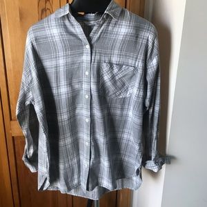 Old Navy Flannel Boyfriend Shirt